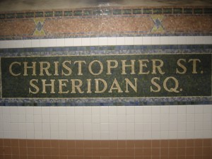 New York - Mosaic work at many subway stations increases visual interest and is durable